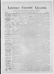Lincoln County Leader, 08-04-1883