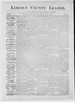 Lincoln County Leader, 08-25-1883