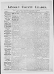 Lincoln County Leader, 09-01-1883