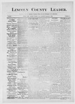 Lincoln County Leader, 09-08-1883