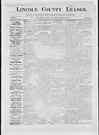 Lincoln County Leader, 09-29-1883