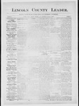 Lincoln County Leader, 11-17-1883