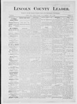 Lincoln County Leader, 01-05-1884