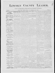 Lincoln County Leader, 01-12-1884