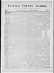Lincoln County Leader, 10-25-1884