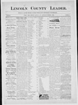 Lincoln County Leader, 11-08-1884