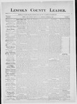 Lincoln County Leader, 11-15-1884