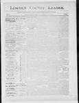Lincoln County Leader, 10-27-1888 by Lincoln County Publishing Company