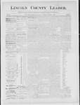 Lincoln County Leader, 11-24-1888 by Lincoln County Publishing Company