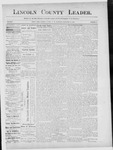 Lincoln County Leader, 12-15-1888 by Lincoln County Publishing Company