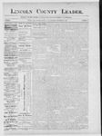 Lincoln County Leader, 12-22-1888 by Lincoln County Publishing Company