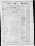 Lincoln County Leader, 12-29-1888 by Lincoln County Publishing Company
