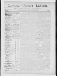 Lincoln County Leader, 01-05-1889 by Lincoln County Publishing Company