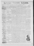 Lincoln County Leader, 03-16-1889 by Lincoln County Publishing Company