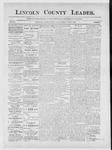 Lincoln County Leader, 04-13-1889 by Lincoln County Publishing Company