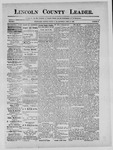 Lincoln County Leader, 04-20-1889 by Lincoln County Publishing Company