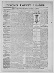 Lincoln County Leader, 05-25-1889 by Lincoln County Publishing Company