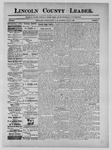Lincoln County Leader, 06-15-1889 by Lincoln County Publishing Company