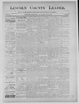 Lincoln County Leader, 07-13-1889 by Lincoln County Publishing Company