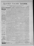 Lincoln County Leader, 07-20-1889 by Lincoln County Publishing Company