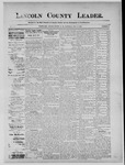 Lincoln County Leader, 07-27-1889 by Lincoln County Publishing Company