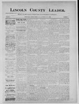 Lincoln County Leader, 08-03-1889 by Lincoln County Publishing Company