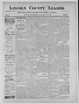 Lincoln County Leader, 08-10-1889 by Lincoln County Publishing Company