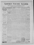 Lincoln County Leader, 08-17-1889 by Lincoln County Publishing Company