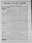Lincoln County Leader, 08-24-1889 by Lincoln County Publishing Company