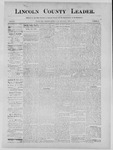 Lincoln County Leader, 09-07-1889 by Lincoln County Publishing Company