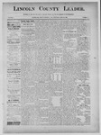 Lincoln County Leader, 09-28-1889 by Lincoln County Publishing Company