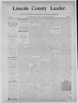 Lincoln County Leader, 10-19-1889 by Lincoln County Publishing Company