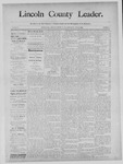 Lincoln County Leader, 10-26-1889 by Lincoln County Publishing Company