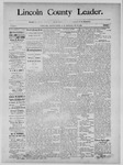 Lincoln County Leader, 11-16-1889 by Lincoln County Publishing Company