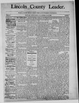 Lincoln County Leader, 11-23-1889 by Lincoln County Publishing Company