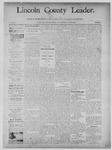 Lincoln County Leader, 11-30-1889 by Lincoln County Publishing Company