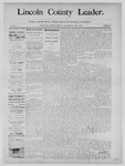 Lincoln County Leader, 12-07-1889 by Lincoln County Publishing Company