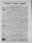 Lincoln County Leader, 12-21-1889 by Lincoln County Publishing Company