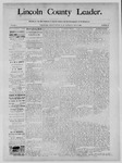 Lincoln County Leader, 12-28-1889 by Lincoln County Publishing Company