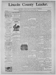 Lincoln County Leader, 01-04-1890 by Lincoln County Publishing Company