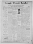 Lincoln County Leader, 01-25-1890 by Lincoln County Publishing Company