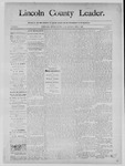 Lincoln County Leader, 02-01-1890 by Lincoln County Publishing Company