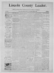 Lincoln County Leader, 02-15-1890 by Lincoln County Publishing Company