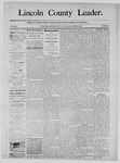 Lincoln County Leader, 02-22-1890 by Lincoln County Publishing Company