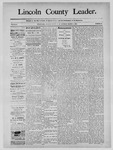 Lincoln County Leader, 03-01-1890 by Lincoln County Publishing Company