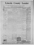 Lincoln County Leader, 03-15-1890 by Lincoln County Publishing Company