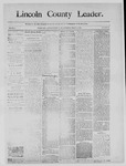 Lincoln County Leader, 03-22-1890 by Lincoln County Publishing Company