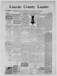 Lincoln County Leader, 03-29-1890 by Lincoln County Publishing Company