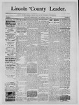 Lincoln County Leader, 04-05-1890 by Lincoln County Publishing Company
