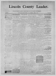 Lincoln County Leader, 04-26-1890 by Lincoln County Publishing Company
